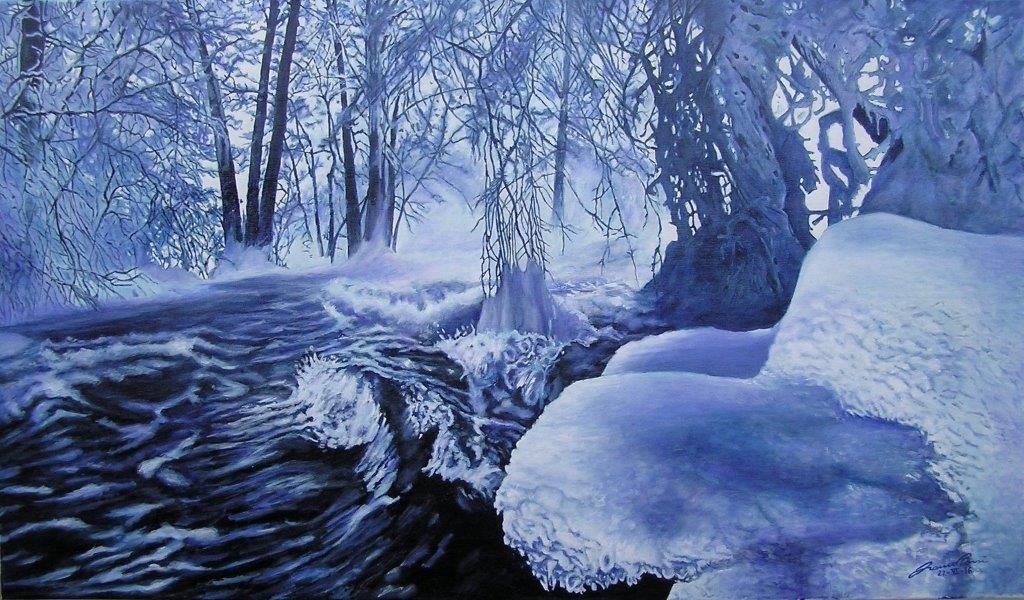 Acqua di fonte, chiusa tra la neve, anima e cuore geli a chi ti beve...