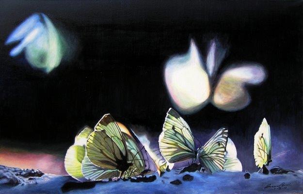 Farfalle sulla neve
